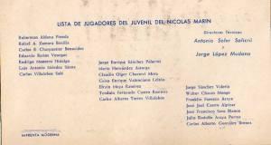 Lista de jugadores campeones juveniles 1958