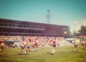 Partido entre Barrio México y Curridabat en el antiguo Estadio Nacional en los 80s