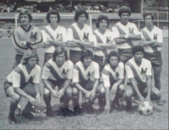 Deportivo México 1976. Arriba; José Espinoza, Willian Jimenez, Jose Manuel