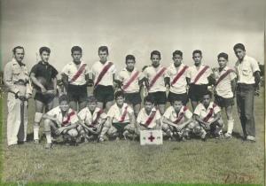 Infantil del Dep. Nicolás Marín. En el equipo destacaba el arquero Augusto Marín Pérez y el entrenador Francisco José