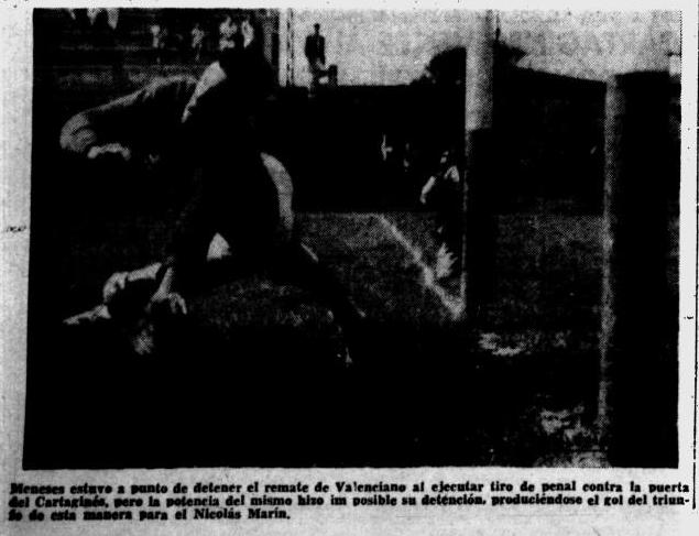 Domingo 4 de diciembre de 1960 NM vence a Cartagines