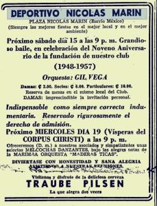 Fiesta Aniversario Deportivo Nicolás Marín