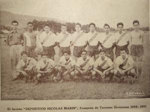 Campeones invictos Tercera Divisiòn 1950