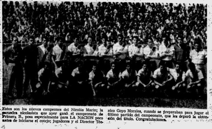 Lunes 20 de enero 1963 NM campeoniza ante Limón