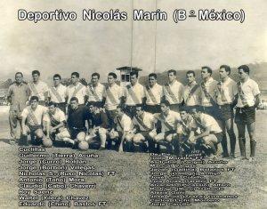 Deportivo Nicolás Marín campeón de Segunda División en 1963 con el entrenador